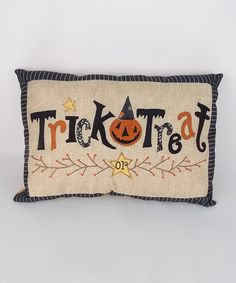 'Trick or Treat' Throw Pillow