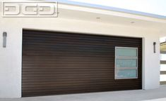 mid century modern garage doors | Modern architectural garage doors with side glass panels, frosted ...