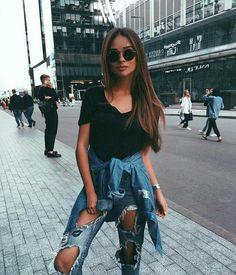 Double Denim Fashion! Whoo Hoo! | Stylish fashion outfit ideas for women from Zefinka.com