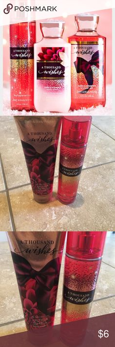 Bath & Body works lotion and spray New, under Bath & Body works a Thousand Wishes lotion and mist. Great to bundle to save on shipping! bath and body works Other
