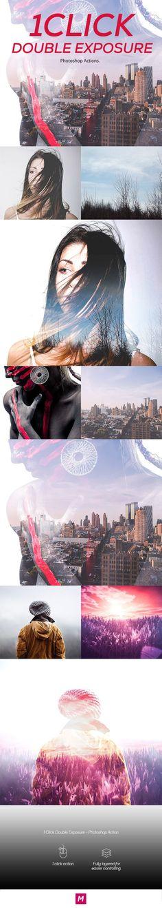 1 Click Double Exposure - Photoshop Action #photoeffect Download: http://graphicriver.net/item/1-click-double-exposure-photoshop-action/12113670?ref=ksioks