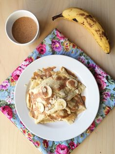 Healthy grain free crepe style pancakes with just 3 ingredients!