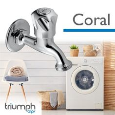 Our coral range comes complete with a bib tap to fit your washing machine! Making sure your whole home is catered for. #Coral Timber Door, Plumbing Fixtures, Washing Machine, Door Handles, Coral, Range, Fit, Home Decor, Cookers