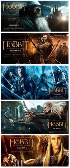The Hobbit: The Desolation of Smaug (2013) movie posters