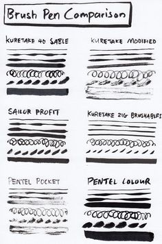 Brush Pens Compared - parka blogs
