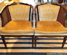 the little black door: cane chair makeover