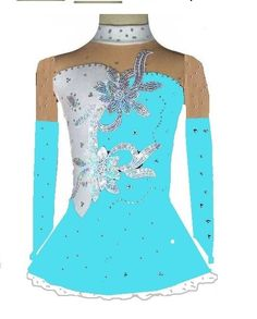 EN STOCK MAGASIN -  Robe de patinage artistique Figure roller de tunique dance