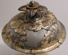 Vessel Cover Date: ca. 830–850 Culture: Carolingian Medium: Silver, partial gilt, niello Dimensions: Overall: 2 9/16 x 4 1/2 in. (6.5 x 11.4 cm)