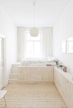 surélever le lit pour gagner des espaces de rangements