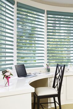 Hunter Douglas Pirouette® shadings are incredibly versatile. Superior light control, clear views to the outside, inside privacy, style—all in one gorgeous window fashion