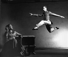 Merce Cunningham and Martha Graham, by Phillippe Halsman. This photo is so striking!