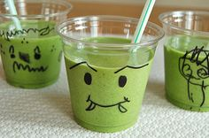 Green monster smoothies.