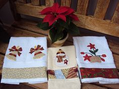 Toalhas de Natal by Mi Fernandes Patchwork, via Flickr