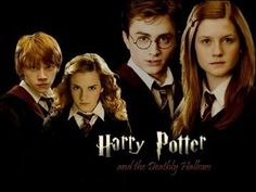 Harry Potter and Ginny Weasley and Ron Weasley and Hermione Granger