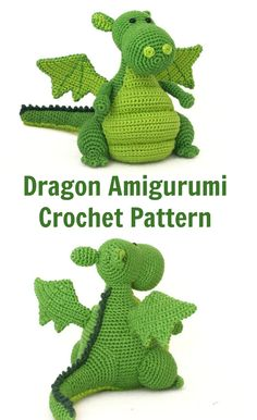 Beautiful dragon amigurumi crochet pattern. Very detailed.