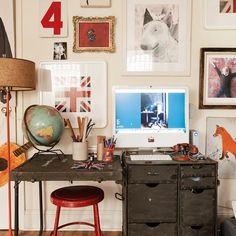 Fun and eclectic homework area | Children's bedroom ideas | Childrens room | PHOTO GALLERY | Livingetc | Housetohome.co.uk