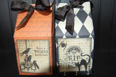 Halloween Milk Cartons Halloween Ii, Halloween Projects, Halloween House, Halloween Cards, Holidays Halloween, Halloween Treats, Halloween Decorations, Craft Paper Punches, Paper Punch Art