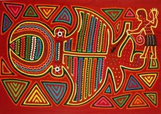"Molas are beautiful appliqué and embroidery ""paintings"" traditionally made by women of the Kuna; an indigenous people of Colombia and Panama."