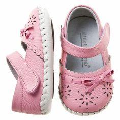 Little Blue Lamb De Niña Bebé Flores Rosas Piel Zapatos De Bebé Suela Blanda
