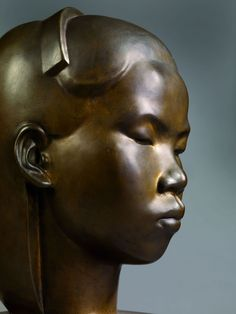 VŨ Cao Đàm (1908-2000),Buste de jeune fille.Bronze,1930.Musée du Quai Branly© Christian Murtin