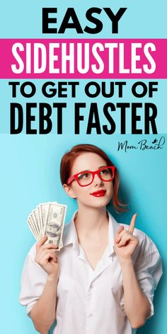 These side hustle ideas for extra cash to pay of debt faster are everything you need to know to get out of debt. Pay off debt faster with these genius side hustles and ways to make extra money! #sidehustles #getoutofdebt #extraincome #money #makemoney