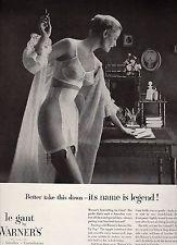1954 VINTAGE PRINT AD - WARNER'S Le Gant Bras, Girdles, Corselettes - sexy lady