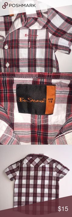 Size 1-2T• Ben Sherman Short Sleeve Button Up Purchased brand new at Saks Fifth when my son was just a year old. He is now 7!😭. I can't believe how fast time flies. Worn once or twice• Perfect Condition with no flaws• Pair it with jeans and a cool pair of kicks and you got one stylish little man😉• Extra Button included with tag• Ben Sherman Shirts & Tops Button Down Shirts
