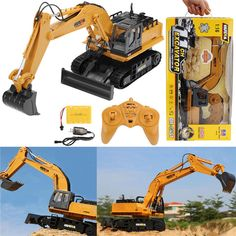 [US$48.99] HuiNa 1510 1/16 2.4G RC Car Metal Excavator 11 Channels 680 Degree Rotation Engineering Truck Toys #huina #1510 #2.4g #metal #excavator #channels #degree #rotation #engineering #truck #toys