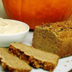 a simple {real food} recipe :: pumpkin bread with pumpkin cream cheese {gluten and nut free with egg and dairy free options}