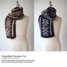 MAVAZI IMPORT CLOTHING | Rakuten Global Market: Cowichan knit scarf / 2 colors Canadian sweater (Canadian Sweater).