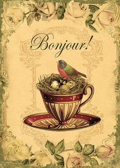 Bonjour one of the happiest phrases in my opinion.