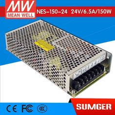 62.38$  Watch now - http://ai5qg.worlditems.win/all/product.php?id=32756980115 - Worthwhile Free shipping MEAN WELL NES-150-24 2Pcs 24V 6.5A meanwell NES-150 24V 156W Single Output Switching Power Supply