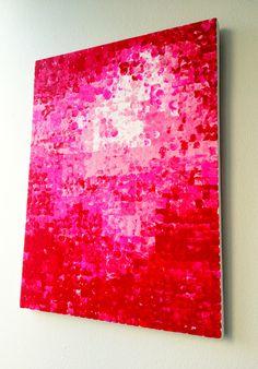 DIY Pixilated Flower Art