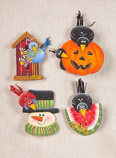 Winter, Spring, Summer & Fall Pins  love theses pins
