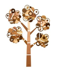Paper Punch Paint Chip Tree