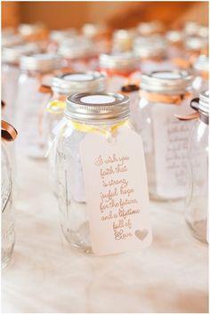 #wedding, #weddingfavors,  #masonjars