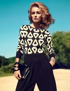 Edita Vilkeviciute Wears H&Ms Key Pieces for Spring