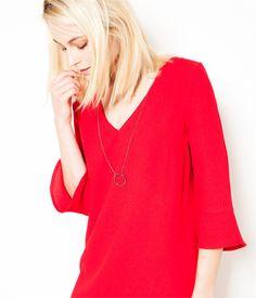 Robe bijoux rouge Camaïeu 2016
