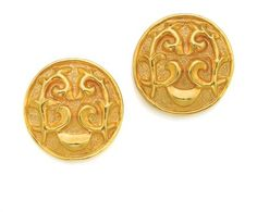 Pair of Gold Earclips, Lalaounis