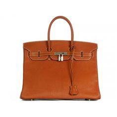 Hermès Cognac Chevre 35cm Birkin Bag, Rare * Layaway Available *