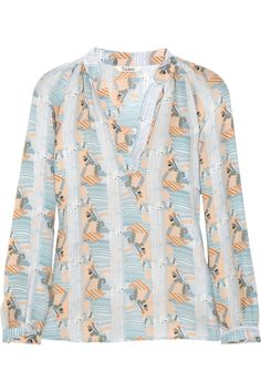 Printed silk blouse by Tucker