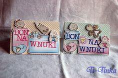 bony na wnuki by Ti-Tinka -podziękowania dla rodziców na weselu Weeding, Food Design, Cards, Handmade, Inspiration, Biblical Inspiration, Grass, Hand Made, Weed Control