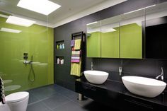 Colors to pair with black and white in the bathroom -- or any room in the home really!