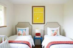 Unisex Modern Kids Bedroom Designs Ideas – Decorating Ideas - Home Decor Ideas and Tips Girl Room, Small Room Bedroom, Boys Bedding, Twin Bedroom, Kids Shared Bedroom, Bedroom Design, Boy Room, Modern Kids Bedroom, Room