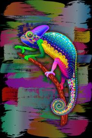 ★ #Free #Shipping on all #apparel plus 15% off #ArtPrints & #Phone#Cases ★  Use Coupon Code: BLUEDARKART21JA > http://dbh.la/nq2  #Chameleon #Psychedelic #Rainbow #Colors