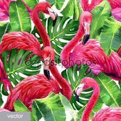 Baixar - Flamingo rosa colorida — Ilustração de Stock #90713044