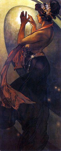 vintagemarlene: pole star by alphonse mucha, 1902 (www.neat-stuff-blog.blogspot.com)