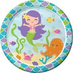 Mermaid Friends Plates, 8pk, Multicolor