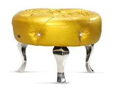 yellow foot stool