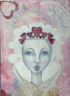 Queen of Hearts - Art by Kim Wilkowich